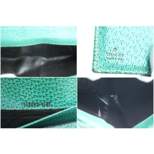 Gucci Long Wallet 9gr0321 Green Monogram Bifold Beige Gg Canvas Clutch