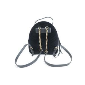 Gucci Marmont Matelasse Gg 5gk0115 Black Velvet Backpack