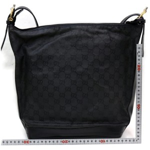 Gucci 857083 Black Monogram GG Interlocking