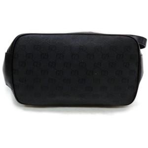 Gucci Messenger 872083 Monogram Interlocking Black Gg Canvas Shoulder Bag