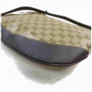 Gucci Messenger Monogram Gg Large 860003 Brown Crystal Canvas Cross Body Bag
