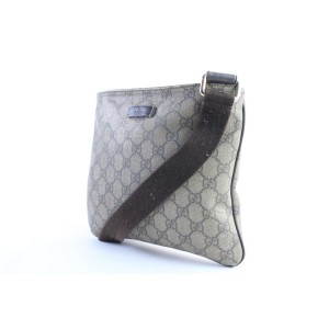 Gucci Messenger Monogram Gg Supreme 226374 Brown Coated Canvas Cross Body Bag