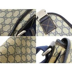 Gucci Messenger Navy 234256 Blue Gg Supreme Canvas Laptop Bag