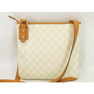 Gucci Messenger White 872812 Ivory Gg Supreme Canvas Shoulder Bag