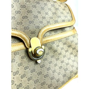 Gucci Micro Gg Monogram Flap 19g611 Brown Coated Canvas Cross Body Bag