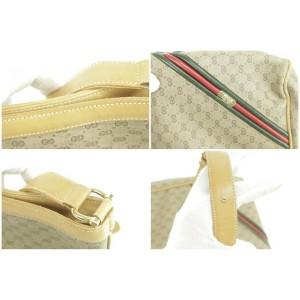 Gucci Micro Gg Monogram Sherry Web 2gk1230 Brown Cross Body Bag