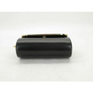 Gucci Mini Chain Clutch Interlocking Gg Minaudiere Or 2way 871672 Black Leather Cross Body Bag