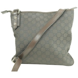 Gucci Monogram 231623 Brown Gg Canvas Cross Body Bag