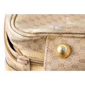 Gucci Monogram GG Micro Logo Suitcase Luggage Bag 398ggs226