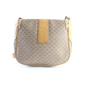 Gucci Messenger Monogram Gg Signature 33gr0618 Beige Coated Canvas Cross Body Bag