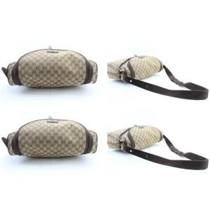 Gucci Monogram Large 8gr0208 Brown Coated Canvas Diaper Bag