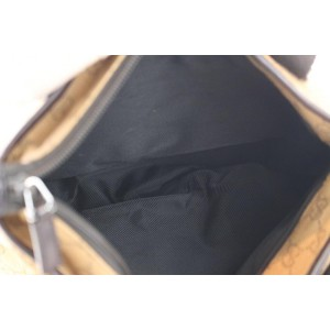 Gucci Monogram Pocket 03gz0709 Brown Coated Canvas Tote