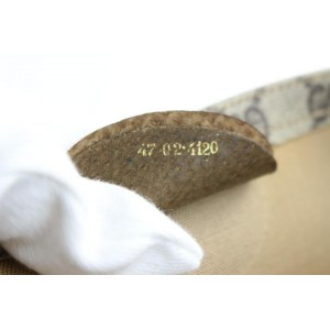 Gucci Monogram Web Pocket 09gz0706 Brown Gg Supreme Canvas Tote