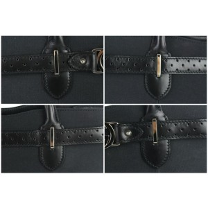 Gucci Perforated Belt 14gz0904 Black Canvas Tote