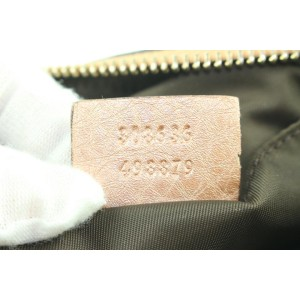 Gucci Pink Pebbled Leather Soho Cosmetic Case Make Up Pouch 25gs121