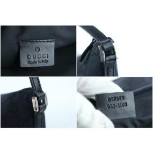Gucci Pochette Wristlet Monogram Wristlet 2gr1103 Black Gg Canvas Shoulder Bag