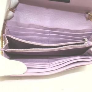 Gucci Purple Flora Wallet on Chain Crossbody Flap Bag 862994