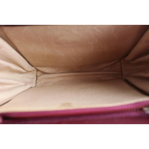 Gucci Quilted Bordeaux 55gga1104th Burgundy Velvet Clutch
