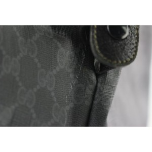 Gucci Sherry Monogram Web Travel 228808 Black Coated Canvas Tote