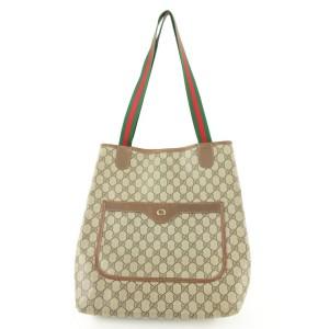 Gucci Supreme GG Web Large Shopping Tote Bag 862849