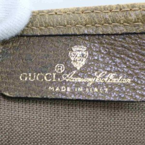 Gucci Shopping Web Handle Large 860012 Brown Gg Supreme Canvas Tote