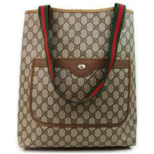 Gucci Web GG Supreme Large Shopping Tote  858205