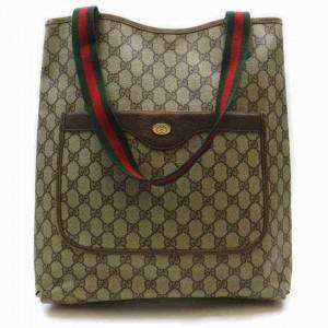 Gucci Shopping Web Large 860038 Beige Supreme Monogram Canvas Tote
