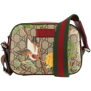 Gucci Red Supreme GG Mini Camera Shoulder Bag Tian Print GG 475ggs34
