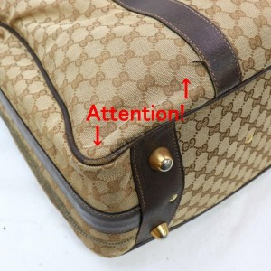 Gucci Soft Trunk 872013 Monogram Suitcase Luggage Brown Gg Canvas Weekend/Travel Bag