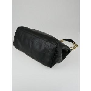 Gucci Soho Chain 6g82 Black Pebbles Leather Tote