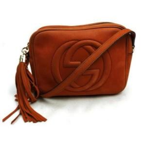 Gucci Soho Disco 872871 Burnt Orange Suede Cross Body Bag