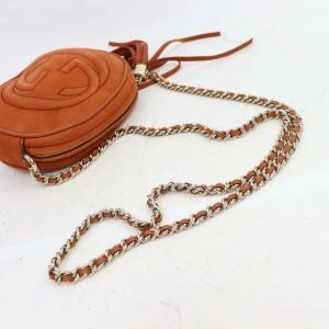 Gucci Soho Disco Chain Cross Body 870900 Burnt Orange Leather Shoulder Bag