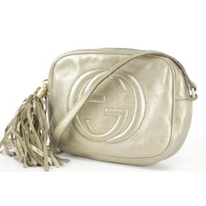 Gucci Soho Disco Fringe Tassel 18gk1219 Gold Cross Body Bag