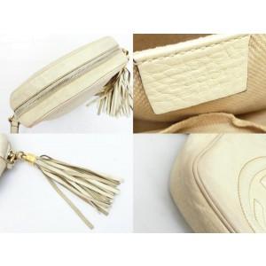 Gucci Soho Disco Ivory Fringe Tassle 233478 Off-white Leather Cross Body Bag