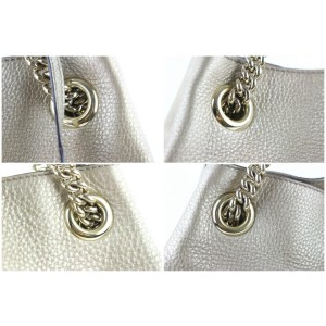 Gucci Soho Metallic Chain Tote 20ge0108 Gold Leather Satchel