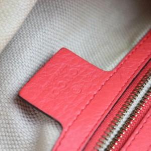 Gucci Soho Tomato Pink-red Fringe Tassel Chain Tote 871292 Red-pink Leather Shoulder Bag