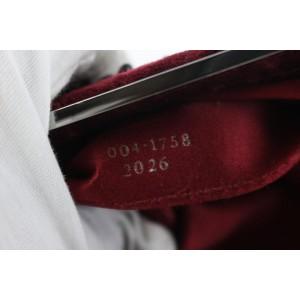 Gucci Clutch Stone Beaded 17gz0724 Bordeaux Velour X Satin Wristlet