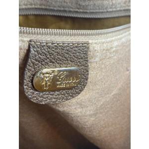 Gucci Supreme Monogram Shopper 11g63 Brown Coated Canvas Tote