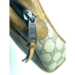 Gucci Supreme Monogram Web Gg 3gg63 Brown Coated Canvas Clutch