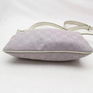 Gucci (Ultra Rare) Lavendar Monogram Gg Signature Cross Body 869599 Purple Canvas Messenger Bag