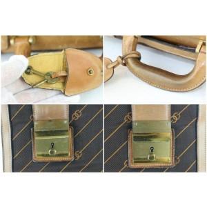 Gucci (Ultra Rare) Monogram Luggage 4gz1126 Brown Canvas Tote