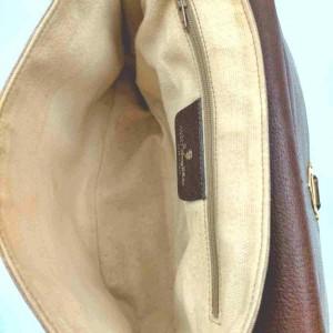 Gucci Vintage Flap 860065 Brown Coated Canvas Shoulder Bag