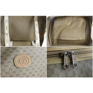 Gucci Web Monogram Suitcase 226814 Brown Coated Canvas Weekend/Travel Bag