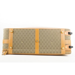 Gucci XL Monogram GG Rolling Suitcase Trolley Luggage 259ggs216