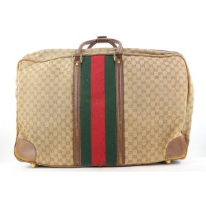 Gucci  XL Monogram GG Web Suitcase Luggage Bag 127ggs23