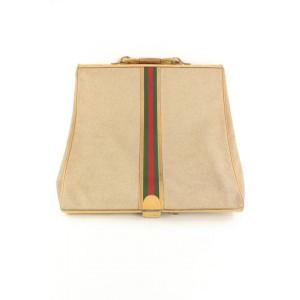 Gucci Ultra Rare XL Web Garment Cover Travel Bag Suitcase 123ggs23