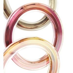 Gucci Runway Pink & Orange Metal Clear Plexiglass Bangle Bracelet