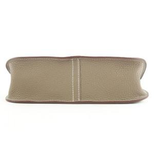 Hermès  Etoupe Clemence Leather Hazlan 25 Crossbody 2way Bag 529her39