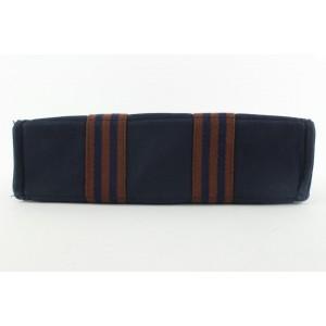 Hermès Navy Stripe Fourre Tout Tote bag 98her428