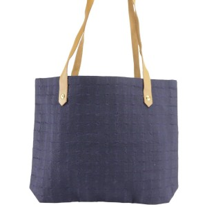 Hermès Ahmedabad Box With 21hk1207 Blue Canvas Tote